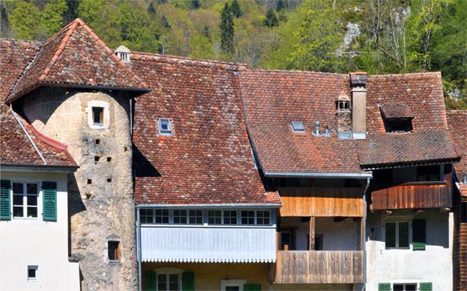 medieval town Saint Ursanne