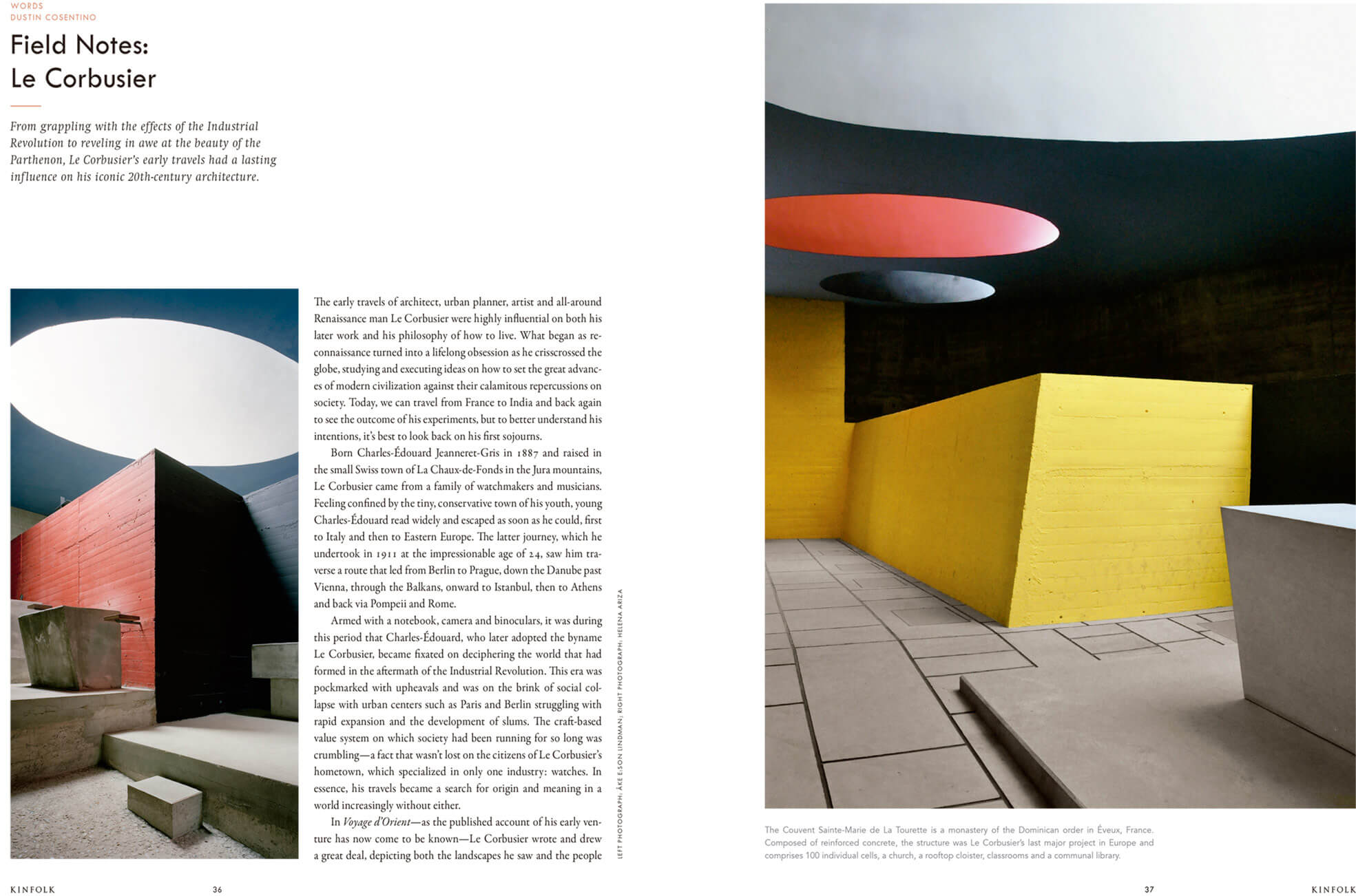 Kinfolk Travel Issue. Field Notes: Le Corbusier